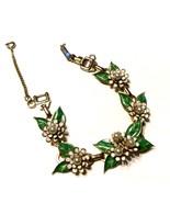 Vintage Barclay Enamel Bracelet Flowers Gorgeou... - $63.70