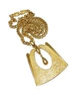 Vintage Monet Modernist Pendant Necklace Retro ... - $24.50