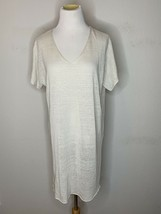 Eileen Fisher Womens Fine Organic Linen Crepe Stretch Tunic V-neck M NWT... - $99.95
