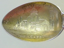 Central Ave Church INDIANAPOLIS IN Indiana Sterling Silver Watson Souvenir Spoon - $19.99