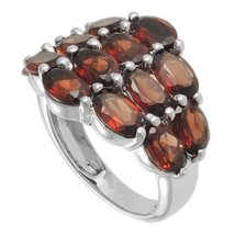 Aura 925 Sterling Silver Ring with Garnet Gemstone (SR00019GA) - £44.69 GBP