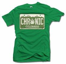 CHRONIC COLORADO LICENSE PLATE L Irish Green Men's Tee (6.1oz) - $18.81