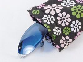 Ladies' Eyeglasses Case ~ Nylon Fabric Snap Pouch w/Pastel Floral Pattern - $4.85