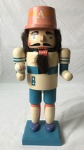 "Vintage Baseball Player Wooden Nutcracker #8 by Atico 12"" - $46.48"