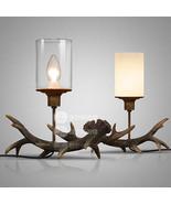 Retro Antler Desk Table Lamp E14 Light Home Lighting Fixture Decorative ... - $82.07+