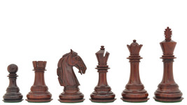 "Columbian Staunton Chess Pieces in Bud Rose Wood & Box wood - 4.5"" King - D0155 - $385.99"