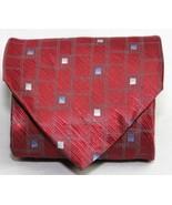 Puritan Maroon Red Gray Metalic Geometric Shapes Mens Silk Neck Tie  STU... - $8.16