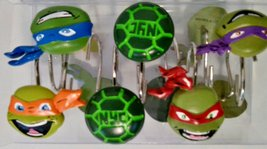 Teenage Mutant Ninja Turtles Shower Curtain Hooks - $19.99