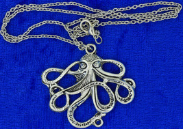 Octopus Kraken Necklace or Keychain Chain Style Length Choice - $3.99+