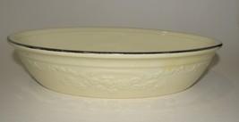 HLC Homer Laughlin Oven Serve Large Oval Vegetable Bowl Ivory with Plati... - $33.25