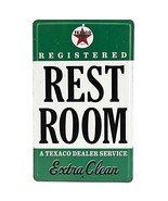 Open Road Brands - Vintage Retro Metal Tin Signs - Embossed Texaco Rest ... - $12.27