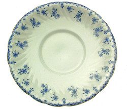 Staffordshire Blue and White Transfer Cake Plate - $18.86