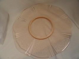 Pink American Sweetheart Depression Glass 12 Inch Salver - $18.39
