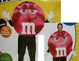 M&M RED ADULT COSTUME ONE SIZE - $45.00