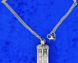 Tardis polic box  doctor who  silver  necklace  side thumb155 crop