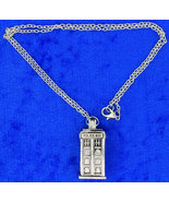 Tardis Police Box Necklace or Keychain Doctor W... - $3.99 - $5.49