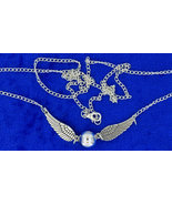 Golden snitch  silver   silver  necklace thumbtall