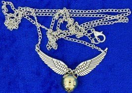 Golden Snitch Necklace Large Gold and Silver Colors Chain Length Choice - $4.49+