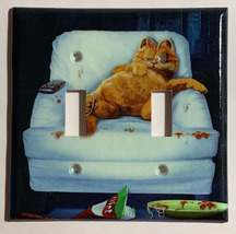Lazy Garfield Cat Light Switch Outlet single double wall Cover Plate Home Decor image 3
