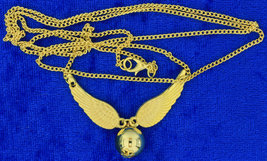 Golden Snitch Necklace Gold Color Chain Length Choice - $4.49+