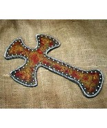 Western Inspirational Tooled Leather Look Cross - $22.99