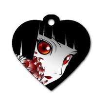 Custom Personalized Heart Dog Name Id Tag Anime... - $11.99