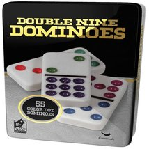 Double 9 Color Dot Dominoes in Collectors Tin (styles will vary) - $19.99
