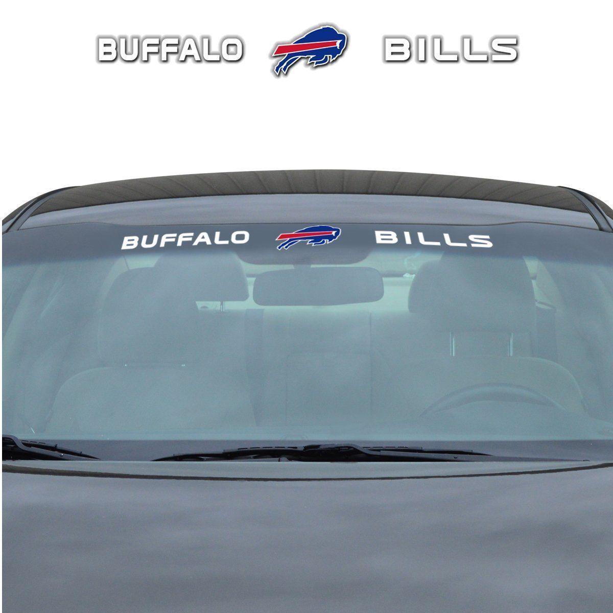 "BUFFALO BILLS 35"" X 4"" WINDSHIELD REAR WINDOW DECAL CAR TRUCK NFL FOOTBALL"