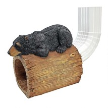 Gutter Guardian Black Bear Log Downspout Architectural Home Accessory Sc... - $44.50
