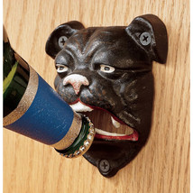 British Antique Replica Cast Iron Bulldog Wall Mount Beer Bar Pub Bottle... - $34.16