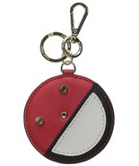 Calvin Klein Vivid Red Comb Leather Face Key Chain Key Ring - $35.00