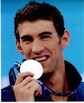 Michael Phelps Olympics Vintage 11X14 Color Swimming Memorabilia Photo - $14.95