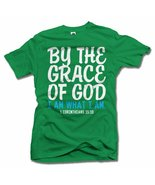BY THE GRACE OF GOD I AM WHAT I AM M Irish Green Men's Tee (6.1oz) - $18.81