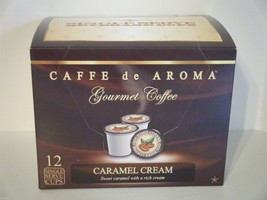 Caffe de Aroma Flavored Caramel Cream 12 Single Serve K-Cups Free Shipping  - $9.99