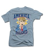 AMERICA YOU'RE FFF**KED! FUNNY ANTI-TRUMP SHIRT S Stonewash Men's Tee (6... - $18.81