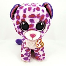 Ty Beanie Boos Glamour Leopard Plush Pink, Medium RARE Retired UPC 00842... - $11.40