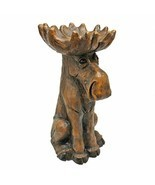 Wildlife Outdoor Lodge Cabin Decor Horned Moose Indoor Outdoor Garden St... - £96.64 GBP