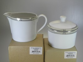 Royal Worcester Mondrian Creamer & Covered Sugar Set - $32.62
