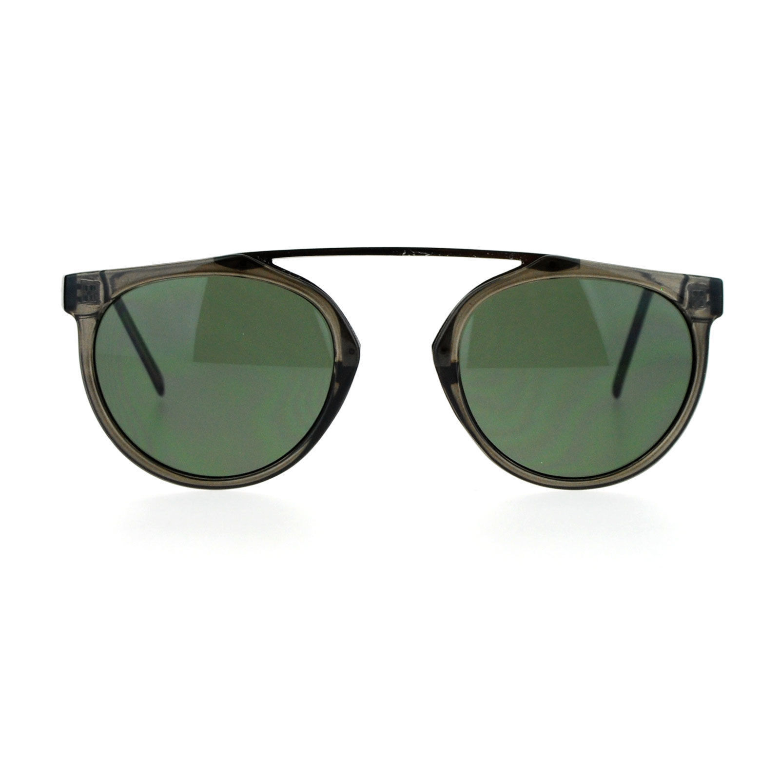 Arched Bridge Top Round Aviator Sunglasses Unique Unisex Fashion Shades