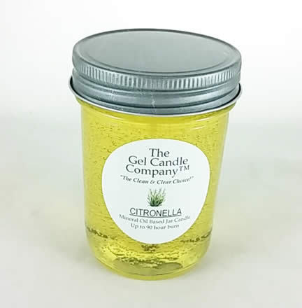 Citronella 90 Hour Gel Candle Classic Jar - Effective Mosquito Prevention Candle