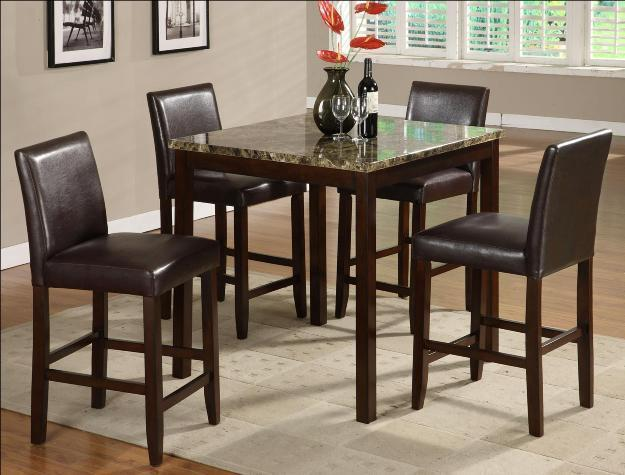 Crown Mark 2724 Dining Room Set 5pc. Anise Counter Height Contemporary Style