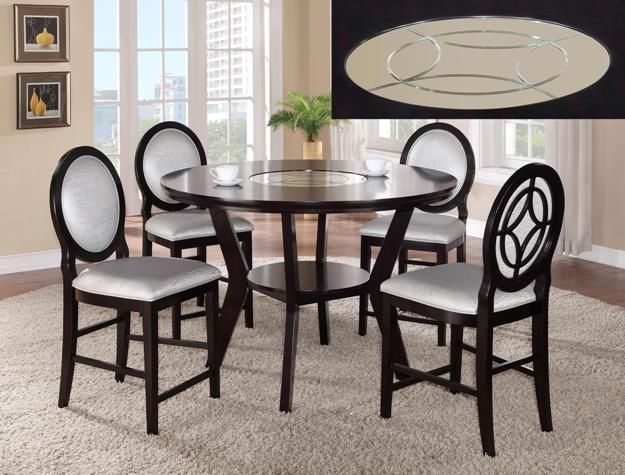 Crown Mark 2736 Dining Room Set 5pc. Gianna Counter Height Transitional Style