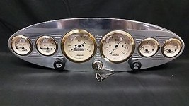 6 GAUGE UNIVERSAL OVAL DASH CLUSTER WITH SWITCHES GOLD - $326.90