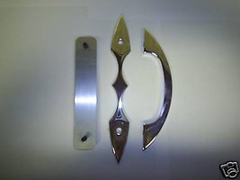 POLISHED BILLET DOOR HANDLE/PULL WITH SCALLOPED BASE - $79.08