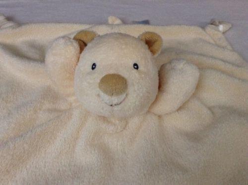Baby Gund Tan teddy Bear Satineesnugs Lovey Security Blanket 58682 Off White