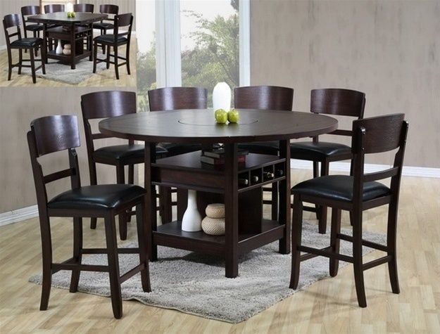 Crown Mark 2849 Dining Room Set 7pc. Conner Counter Height Espresso Casual Style