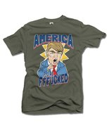 AMERICA YOU'RE FFF**KED! FUNNY ANTI-TRUMP SHIRT L Military Green Men's T... - $14.76