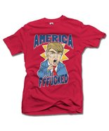 AMERICA YOU'RE FFF**KED! FUNNY ANTI-TRUMP SHIRT L Red Men's Tee (6.1oz) - $14.76
