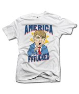 AMERICA YOU'RE FFF**KED! FUNNY ANTI-TRUMP SHIRT L White Men's Tee (6.1oz) - $14.76