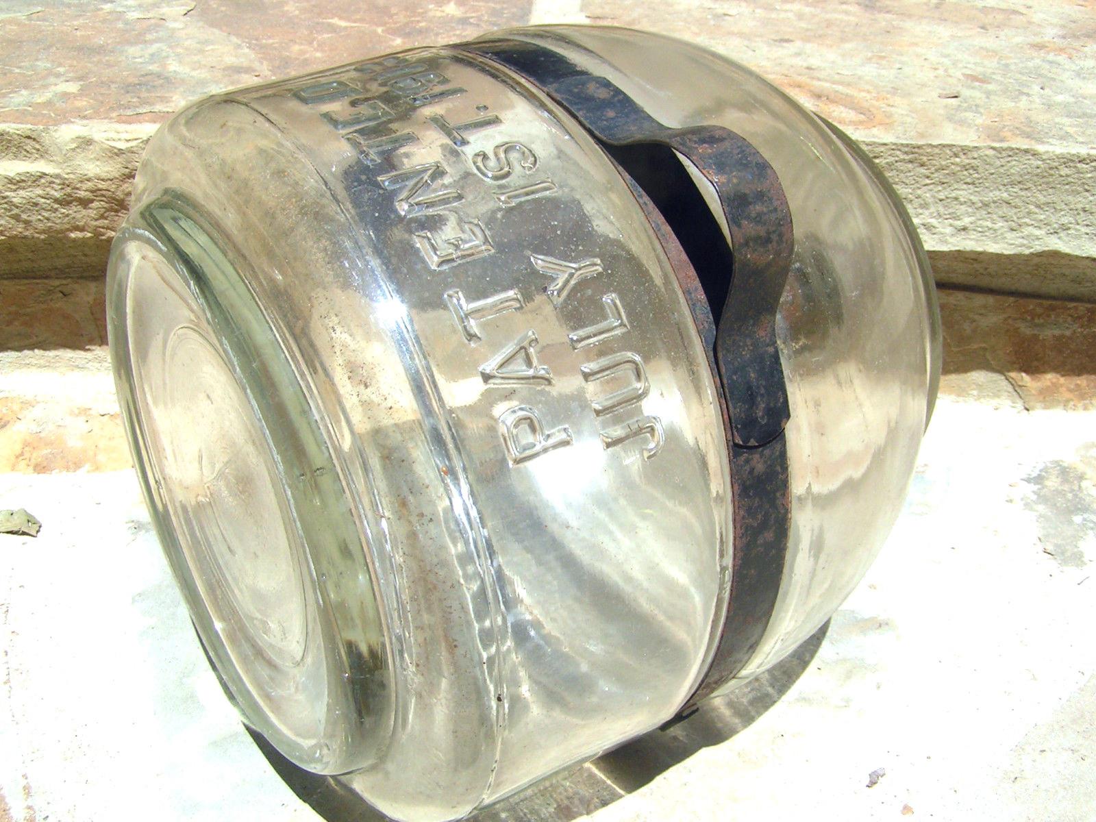 OLD Glass Stove Kerosene Bottle 1913 Jug Bottle bz